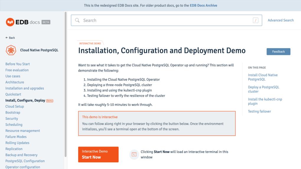 Cloud Native PostgreSQLのInteractive Demoを使ってみよう